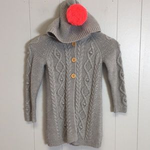 Boden Girls Size 6-7 Yr Gray Knit Cardigan Sweater